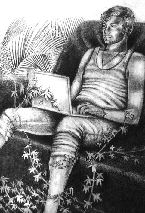 Passing time, 2010, graphite paper